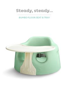Create a fun play or snack surface by adding a tray to your Bumbo Floor Seat.