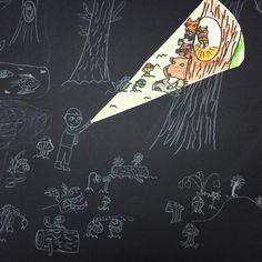 Art lessons for kids - Grade Nocturnal Landscape drawing – Art lessons for kids 3rd Grade Art Lesson, Third Grade Art, Grade 3 Art, Grade 2, Art Lessons For Kids, Art Lessons Elementary, Art Education Lessons, Art Project For Kids, Middle School Art