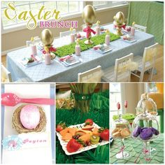 Glam Children's Easter Brunch on http://pizzazzerie.com    -Would love to do with with Ava and her friends when she's a bit older :)