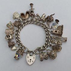 Sterling Silver Charm Bracelet. Vintage. by LittleVintageCharmCo #voguet #vogueteam