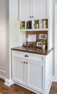 kitchen remodel by sicora design build wwwsicoracom family command center idea - Small Kitchen Desk Ideas