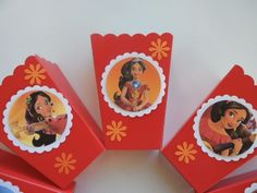 Princess Elena of avalor .Party Favor..10 popcorn boxes #HANDMADE #BirthdayChild