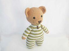 Ravelry: Theodore the Crochet Teddy Bear in Pajamas Amigurumi pattern by Ida…
