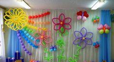 Оформление детского сада шарами к выпускному