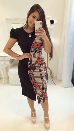 Swans Style is the top online fashion store for women. Shop sexy club dresses, jeans, shoes, bodysuits, skirts and more. Trend Fashion, Fall Fashion Outfits, Hijab Fashion, Fashion Dresses, Fashion Design, Elegant Dresses, Casual Dresses, Dresses For Work, English Dress