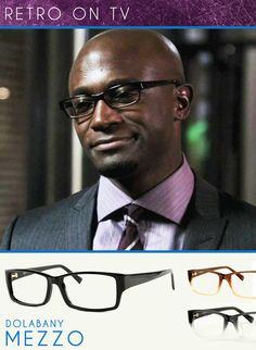 Taye Diggs who plays Dr. Sam Bennett in the TV Show, Private Practice looks all sorts of professional in Dolabany style Meezo frames. Get the look here: Dolabany Meezo.