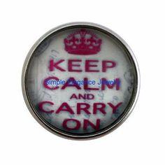 #376 Keep Calm Carry On Snap 20mm