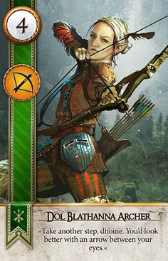 Dol Blathanna Scout (Gwent Card) - The Witcher Wild Hunt Epic Characters, Dungeons And Dragons Characters, Fantasy Characters, Fantasy Warrior, Fantasy Rpg, Medieval Fantasy, The Witcher Geralt, Witcher Art, Character Portraits