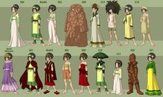 All of Toph's outfits/ appearances.