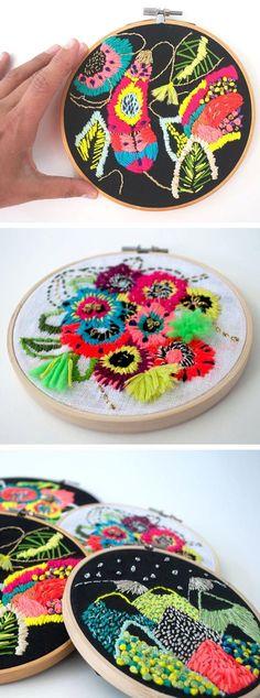 Embroidery by Katy Biele