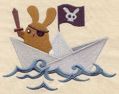 Paper Boat Pirate | Urban Threads: Unique and Awesome Embroidery Designs