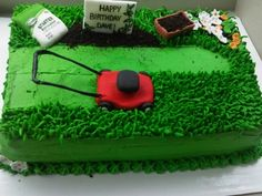 Landscapers Birthday Cake 10 Quot Round Frosted And