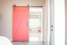 You can't knock a smart, space-saving sliding door that also delivers a splash of vivid color. #etsy