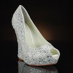 BENJAMIN ADAMS MILA Wedding Shoes and MILA Dyeable Bridal Shoes IVORY........I LOVE WEDGES