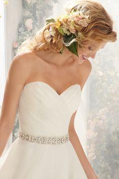 Sweetheart High Low Chiffon A Line Wedding Dress Wmr0145