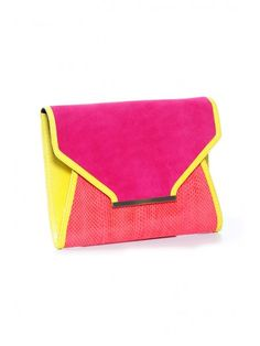 Faux leather snake skin Bourne Amber Pink Clutch