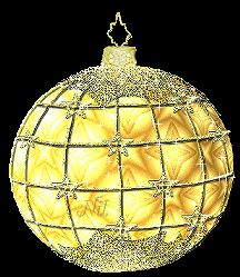 Glittering Gold Christmas Ball