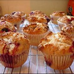 Coconut and raspberry muffins @ allrecipes.co.uk