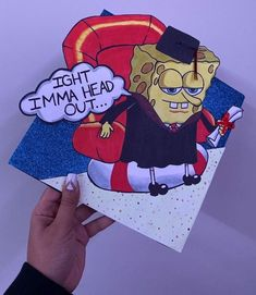 If you need funny graduation quote ideas, Spongebob is the ultimate inspiration. Here are the best spongebob graduation caps we found online. Disney Graduation Cap, Funny Graduation Caps, Custom Graduation Caps, Graduation Cap Toppers, Graduation Cap Designs, Graduation Cap Decoration, Graduation Diy, Decorated Graduation Caps, Funny Grad Cap Ideas