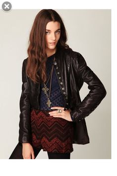 2146bf52d15 Muubaa Military Leather Jacket at Free People Clothing Boutique - StyleSays