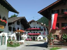 traditional houses in the inner city of Erl Traditional House, Alps, Austria, Switzerland, Germany, Houses, City, Beautiful, Homes