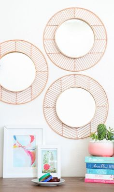 Easy copper and wood mirror DIY