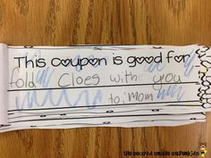 The Second Grade Superkids: Acts of Kindness Coupons