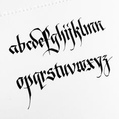"""Bastard #gothic #calligraphy"""