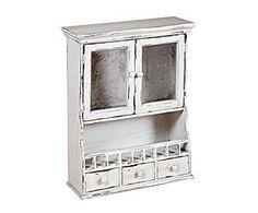 Mueble de pared en madera de mango – blanco