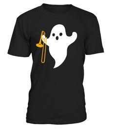 # Halloween Trombone Trombonist Tshirt .  Buy 2 or more to save on shipping costHalloween Trombone Trombonist Tshirt