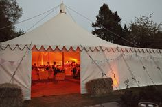Traditional Canvas Pole tent and marquee hire for parties, weddings and corporate events in UK, Ireland and Europe : LPM Bohemia