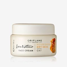 Oriflame Love Nature Face Cream - 50 ml Skincare Logo, Acne Makeup, Dry Skin On Face, Oriflame Cosmetics, Face Lotion, Skin Care Cream, Cleansing Gel, Prunus, Eye Gel