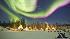 La Aldea de la Aurora en Yellowknife, Canadá. O Chul Kwon Caters News Agency - 2 (© Derechos Reservados de la British Broadcasting Corporation Corporación Británica de Radiodifusión 2014)