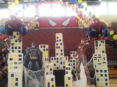super hero decorations | Super hero theme decorations | Superhero Avengers Bedroom & Party Ide ...