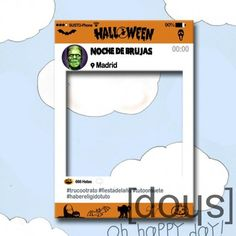 photocall marco halloween totalmente con tu imagen nombre fecha y hashtags para compartir