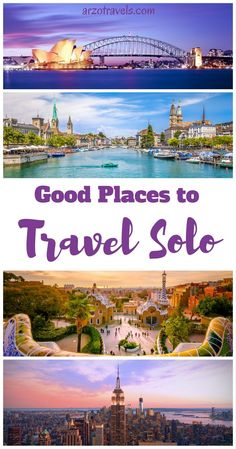 10 of my favorite cities- are they great solo female travel destinations? Are my 10 favorite cities great destinations for solo female travel? Find out. New York, Barcelona, Zurich, Sydney, Lisbon, Cape Town, Paris, Las Vegas, Dubai, London.