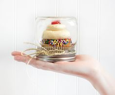 What a cute way to give someone a cupcake!
