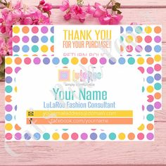 Hey, I found this really awesome Etsy listing at https://www.etsy.com/listing/400161673/digital-business-card-thank-you-lularoe