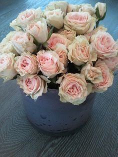 Soft Pink Spray Roses via the Northern Light Blog