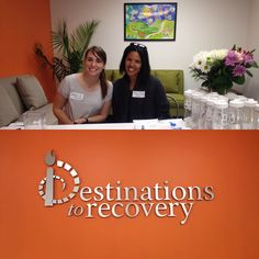 Today we visited Destinations to Recovery to do a presentation about #DBT.  What a great group. Monica here ready to greet the people.