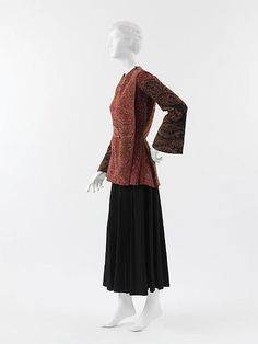 Jacket (side view) Paul Poiret (French, Paris Paris) Date: 1912 Culture: French Medium: wool, cotton, rayon Dimensions: Length at CB: 27 in. cm) Credit Line: Catharine Breyer Van Bomel Foundation Fund, 2005 Accession Number: Paul Poiret, Fashion History, Fashion Art, Vintage Outfits, Vintage Fashion, Vintage Clothing, Corset, French Fashion Designers, Costume Institute