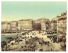 Old Harbor (Vieux-Port), Marseille, France, with Hotel Beauvau at right