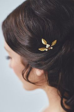 Gold Small Wedding Hair Combs