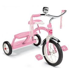 Radio Flyer Girls Classic Dual Deck Tricycle, Pink. Birthday gift idea for a little girl.