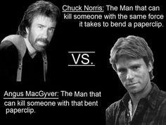 Chuck Norris vs. Angus MacGyver