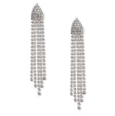 Dangly silver rhinestone earrings