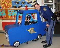 Genevieve: Austin and Trooper Basanese of the Michigan State Police, who joined our local Home Depot in making this amazing police car to go around Austin's wheelchair. We contacted Home Depot...
