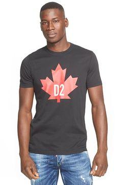 DSQUARED2 'D2' Leaf Graphic T-Shirt. #dsquared2 #cloth #t-shirt #tee