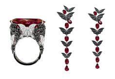 Кольцо и серьги Van der Bauwede, коллекция Twilight
