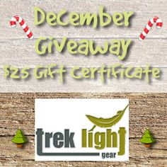 Trek Light Gear $25 Gift Certificate #Giveaway